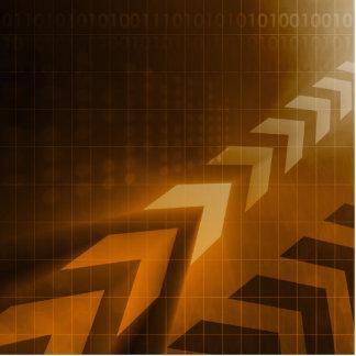 Industry Trends or Business Trending of Data Photo Sculpture Badge