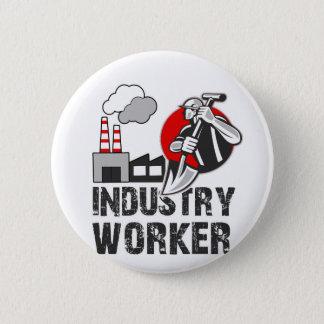 Industry worker 6 cm round badge