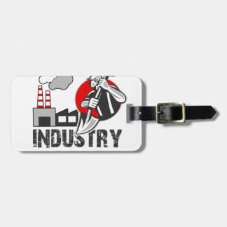Industry worker luggage tag
