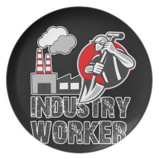 Industry worker plate