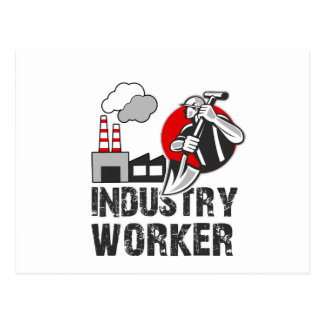 Industry worker postcard