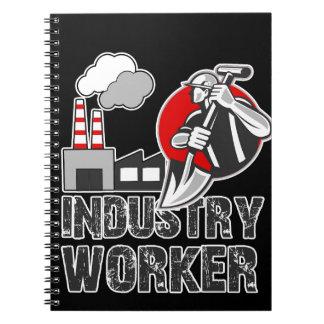 Industry worker spiral notebook