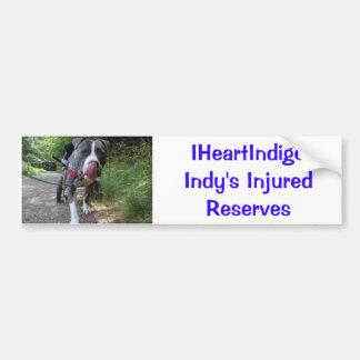 Indy 1, IHeartIndigoIndy's Injured Reserves Bumper Sticker