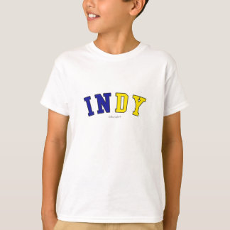 Indy in Indiana state flag colors T-Shirt