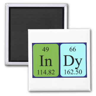 Indy periodic table name magnet