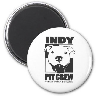 Indy Pit Crew official logo 6 Cm Round Magnet