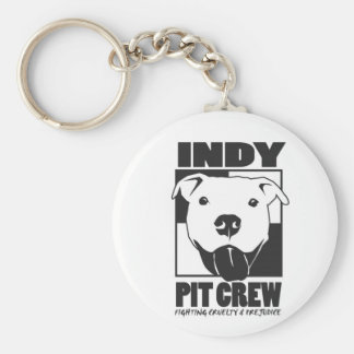 Indy Pit Crew Official Logo Basic Round Button Key Ring