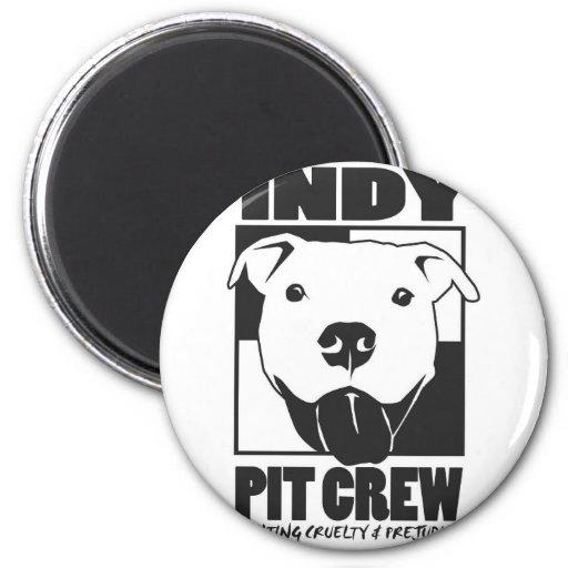 Indy Pit Crew Official Logo Fridge Magnets