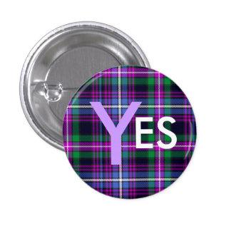 Indy Tartan Yes Scotland Independence Pinback 3 Cm Round Badge