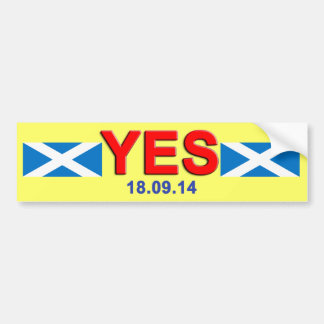 Indy Vote Yes Scotland Bumper Sticker