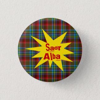 #indyref Tartan Punk Saor Alba Scotland Pinback 3 Cm Round Badge