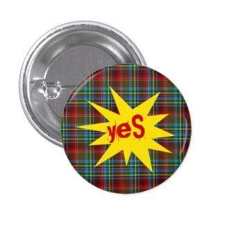 #indyref Tartan Punk Yes Scotland Pinback 3 Cm Round Badge