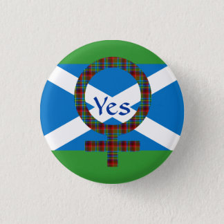 #indyref Women for Yes Scotland Pinback 3 Cm Round Badge