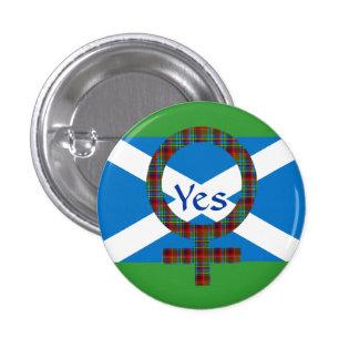 #indyref Women for Yes Scotland Pinback 3 Cm Round Badge