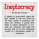 "Ineptocracy Definition Poster (24""x24"")"