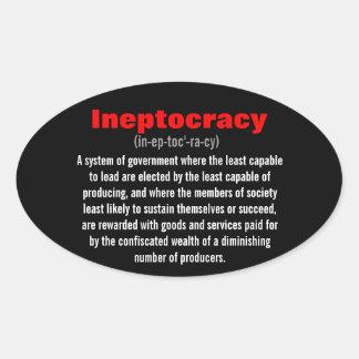 Ineptocracy Oval Sticker