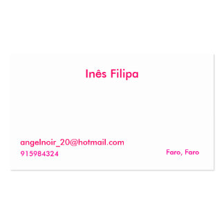 Ines Filipa, angelnoir_20@hotmail.com, Flair, Fan… Pack Of Standard Business Cards