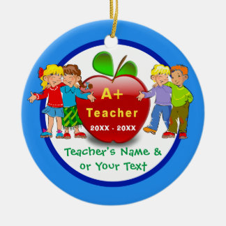 inexpensive 2 Sided Teacher Ornaments Personalized