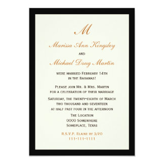 Inexpensive Budget Post Wedding Reception 13 Cm X 18 Cm Invitation Card