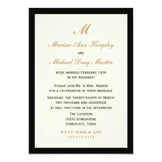 Inexpensive Budget Post Wedding Reception Card