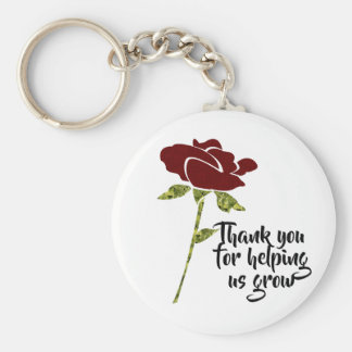 Inexpensive Employee Thank You Appreciation Flower Key Ring