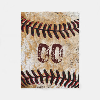 Inexpensive Personalised Baseball Fleece Blankets