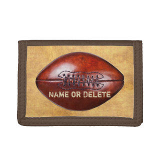 Inexpensive Personalized Vintage Football Wallets