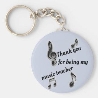 Inexpensive Thank You Music Teacher Appreciation Key Ring