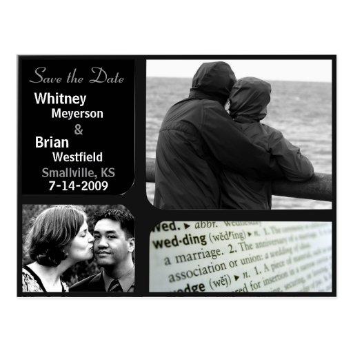 Inexpensive Wedding Invitations Photo Postcard