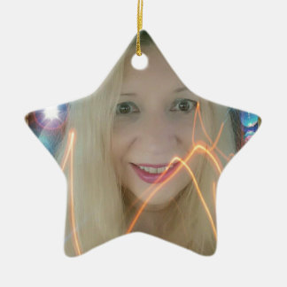 Infamous Lighting Susie Double-Sided Star Ceramic Christmas Ornament