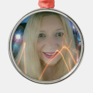 Infamous Lighting Susie Round Metal Christmas Ornament