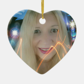 Infamous Lighting Susie Double-Sided Heart Ceramic Christmas Ornament