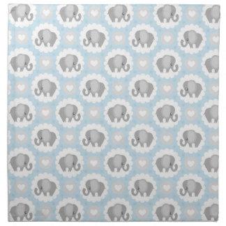 Infant Baby Boy Blue Elephant Shower Gift Napkin