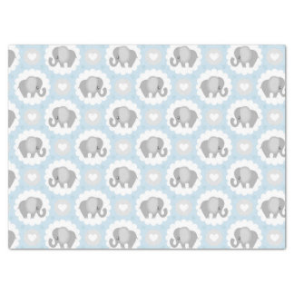 Infant Baby Boy Blue Elephant Shower Gift Tissue Paper