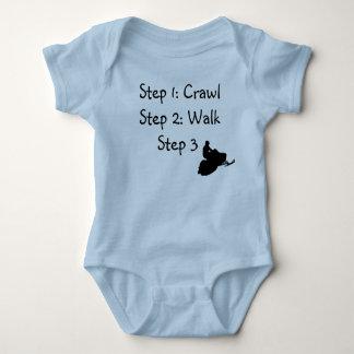 """Infant Boy (blue Crawl, Walk, Ride"""" Baby Bodysuit"""