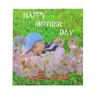 Infant celebrates Mother's day Notepads