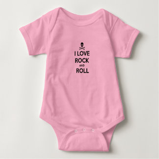 infant creeper, i love rock and roll tee shirt