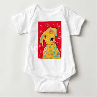 Infant Creeper with Curious Dog Design