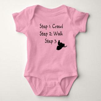 "Infant Girl (pink Crawl, Walk, Ride"" Baby Bodysuit"