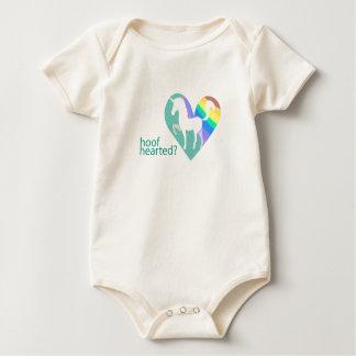 Infant Hoof Hearted Unicorn Rainbow Baby Creeper