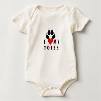 Infant I Heart  My Yotes Baby Bodysuit