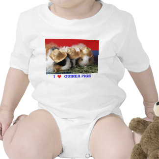Infant I Love Guinea Pigs T Shirt