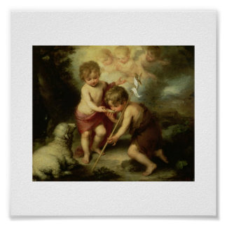 Infant Jesus and John the Baptist circa 1600's Poster
