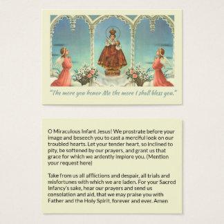 Infant Jesus of Prague Angels Prayer Business Card