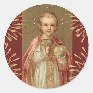 Infant Jesus of Prague Round Sticker