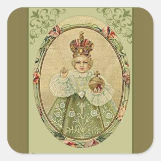 Infant Jesus of Prague Square Sticker