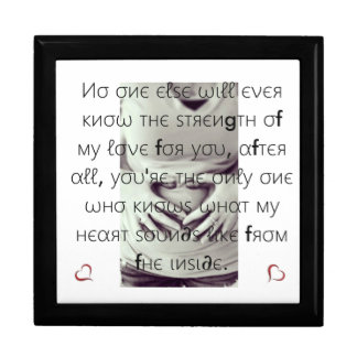 Infant Keepsake box/Heart and Quote Large Square Gift Box