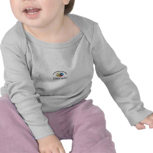 Infant long-sleeve t-shirt, white logo