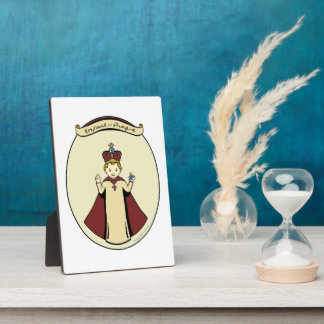 Infant of Prague art plaque with easel