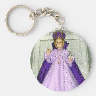 Infant of Prague Statue Key Ring
